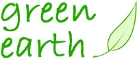 Green Earth Leaf Symbol